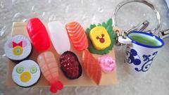 大人気 ディズニー TDL TDS お寿司 キーチェーン 食品サンプル アガリ付 ミッキー
