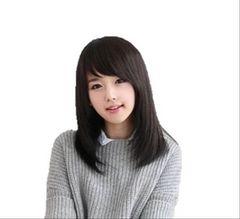 本日のみ★1000円ぽっきり★ウイッグ セミロング 黒髪セット