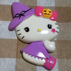 BIG パーツ ☆ ハロウィーン ( 紫 )  キティ ☆ 約 7.5 cm