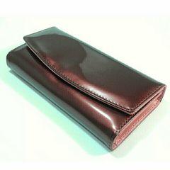 【期間限定特価】キュート★三つ折り長財布(ブラウン×ピンク)