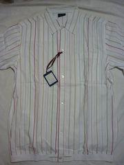 新品!半袖ストライプシャツ・マッコイ東洋Nハリ