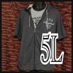 5L・英字アメカジパーカー・Tシャツセット新品/MCAb‐704