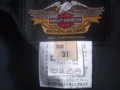 ★ハーレーダビットソンの黒革パンツで良品です☆