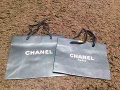CHANELシャネルの紙袋    小2枚セット