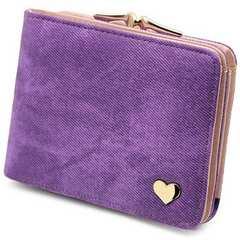 ★即日発送★ 二つ折り財布 収納力◎ 紫 他カラー有