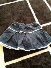 デニム地スカートパンツ付き♪90�p