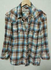 takuya着 七分袖チェックシャツ