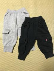 男女120・春秋冬物・五分〜七分丈パンツ・二本セット