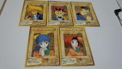 バンダイ版 キャラクターカード5種類セット