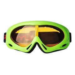 ゴーグル スキー スノボー UVカット グリーン