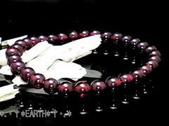 天然石★6ミリ高級ガーネット柘榴石AAA数珠