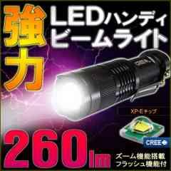 CREE LED ハンディライト 懐中電灯 ビームライト 260LM 単3電池1本使用