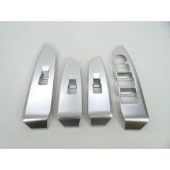 マツダ シルバー ドアスイッチ パネル カバー パワーウインドウ CX-3 DK5系