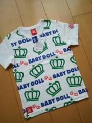 新品総柄Tシャツ120白ベビードールBABYDOLLベビド