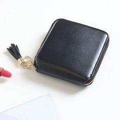 大人気♪ 正方形タッセル付きミニ財布 ブラック 新品