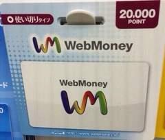 WebMoney ウェブマネー 20000円分 ☆モバペイ各種対応