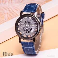 腕時計 ギリシャ文字 アナログ メンズ クォーツ 時計 ブルー