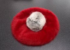 真っ赤なベレー帽♪