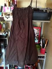 茶綿キャミワンピ・スカートとしてもサイズM