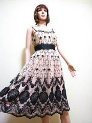 美品☆GRAND TABLED☆綺麗な刺繍チュールのドレスD24☆3点で即落