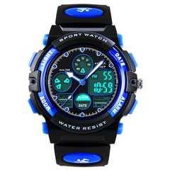子供用腕時計 防水アナログ目覚まし時計 アラーム付きデジタル