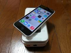 即落/即発!!ios 7.0.6 美中古品 iPhone 5c 16GB ホワイト 完済