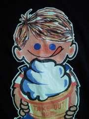 ソフトクリーム メーカー 日世 NISSEI ニックン デザイン Tシャツ ネイビー Lサイズ アイス