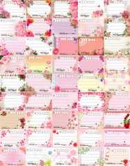 (45)◎E-花柄◎種類豊富★宛名シールセット*45種45枚♪