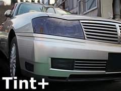Tint+再利用できる セドリック Y34 ヘッドライト スモークフィルム