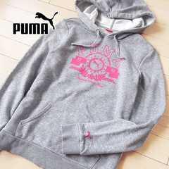 美品 Mサイズ PUMA プーマ レディースパーカー グレー
