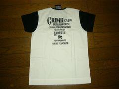 新品CRIMIEクライミーカットソーS白黒VネックTシャツスカル