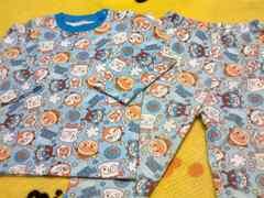 アンパンマンキルト加工パジャマ上下セットサイズ100�p水色