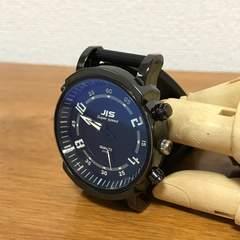 ★腕時計★JIS★ファッションラバーウォッチ★黒文字盤★