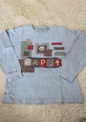 PAPPグレーロゴロンT♪110�p