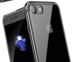 黒iPhone7plusケース シリコン アルミ合金 二重保護
