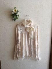 THE EMPORIUM☆シフォンリボンチュール衿裾カットソー