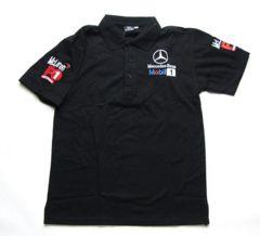 限定送料込み ベンツ 黒ポロシャツ M