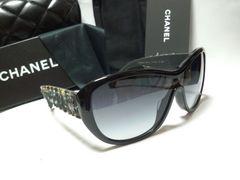 正規新作 極美品 CHANEL シャネル ツイード×ココマークサングラス黒 付属有