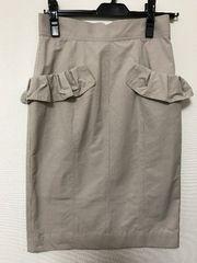 トランテアン☆2017春夏ポケットフリルタイトスカート36 美品