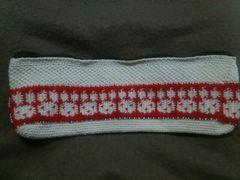 手編みのペンケース、ウサギ