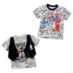 ベスト付きTシャツ+Tシャツ2枚セット160