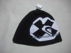 mb701 男 QUIKSILVER クイックシルバー ニット帽 ビーニー 黒