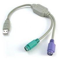 【新品】USB-PS/2 変換ケーブル コンバータケーブル メール便可