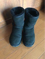 ugg  アグ ブーツ ムートンブーツ 黒 ブラック 24�p US7