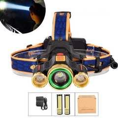 8000ルーメン 超高輝度LEDヘッドランプ ライトセット 夜釣り