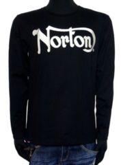新品Nortonイングランドモチーフ天竺ロンT刺繍メタルストーン
