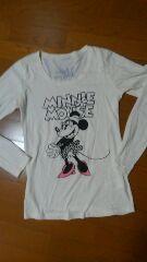 ミニーマウス ロング丈長袖Tシャツ☆