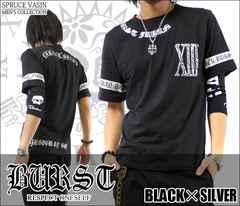 メール便送料無料【MAD BURST JAPAN】70562Tシャツ黒銀XL