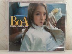 送料無料☆希少  BoA/LISTEN TO MY HEART  CDアルバム☆美品