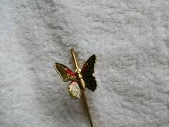 栞 しおり 蝶々 金属 チョウチョ